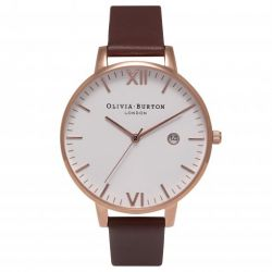 Montre Femme Olivia Burton Timeless Brown and Rose Gold OB15TL01