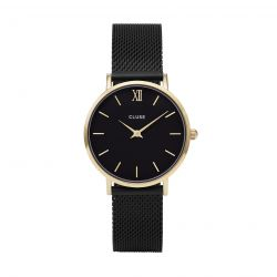 Montre Femme Cluse Minuit Mesh Gold Black / Black 33mm CL30026