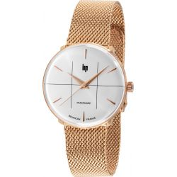 Montre Femme Lip PANORAMIC 34 CLASSIC GOLD MILANESE 1960 - 671075