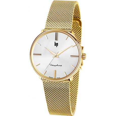 Montre Lip Dauphine 34mm gold 671296 - Dauphine 34