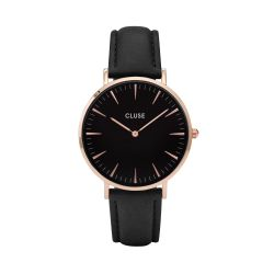 Montre Femme Cluse La Bohème Rose Gold Black / Black 38mm CL18001