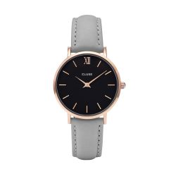 Montre Femme Cluse Minuit Rose Gold Black Grey 33mm CL30018