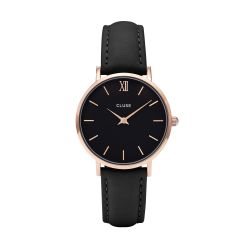 Montre Femme Cluse Minuit Rose Gold Black / Black 33mm CL30022